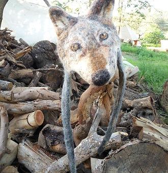 חן רכטמן סטודיו יער- כובע זאבה מלובד בצביעה טבעית