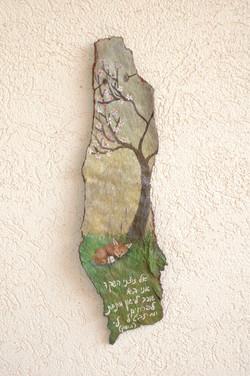 ציור על קליפת עץ