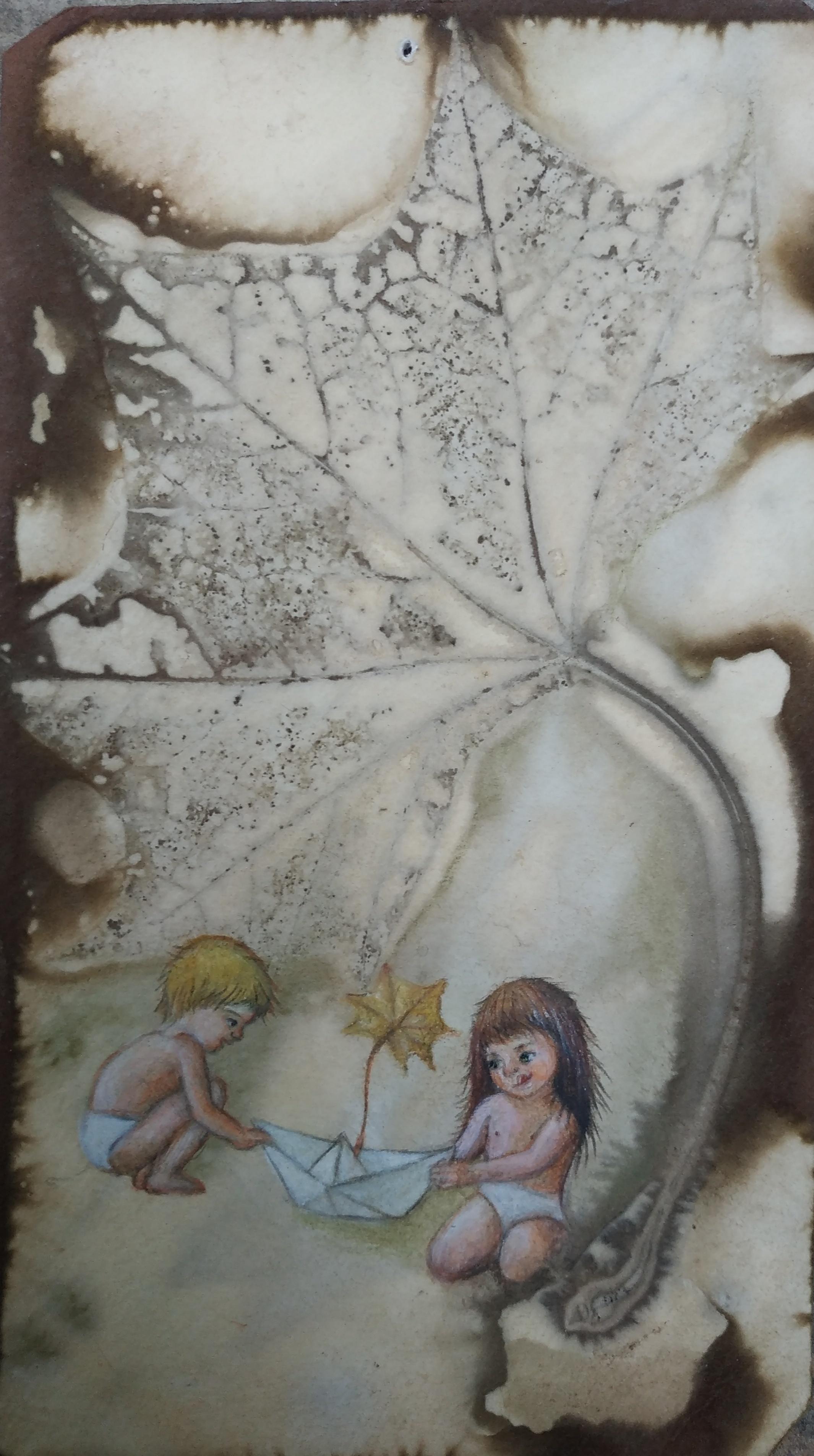 אקו פרינט וצבעי עפרון מים