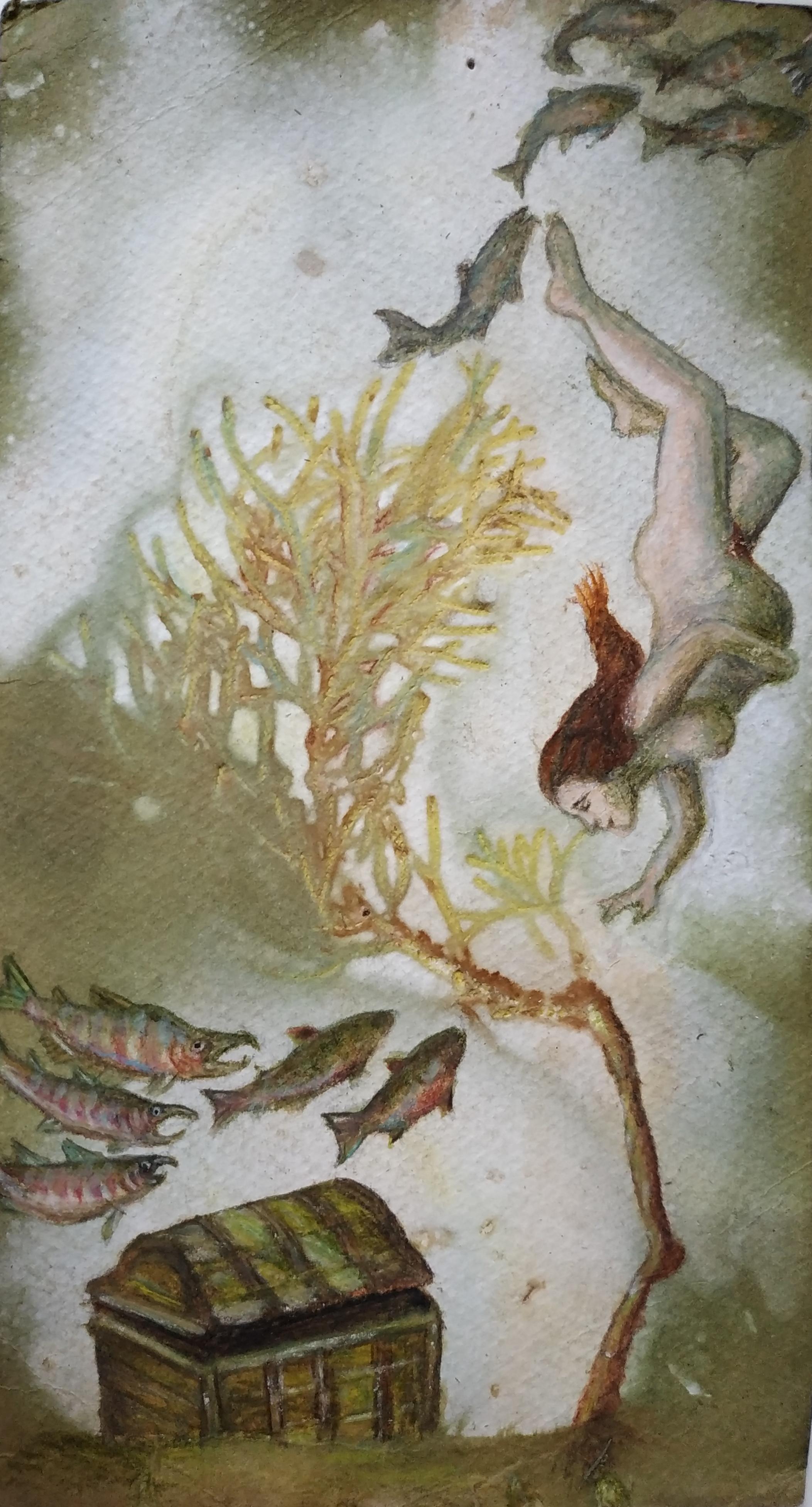 ציור על הדפס בוטאני