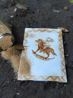 ציורי סוכר ממרוקו על מדורה