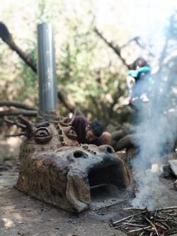 תנור קרמיקה מבוץ