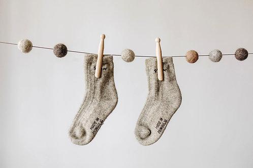 Dětské jačí ponožky - šedé