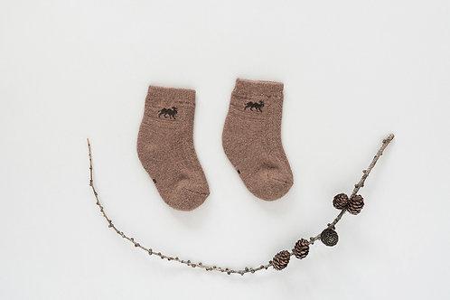 Dětské velbloudí ponožky - hnědé