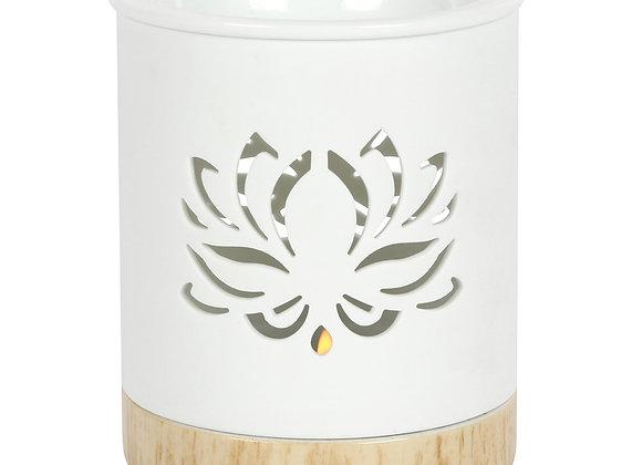White Lotus Flower Burner