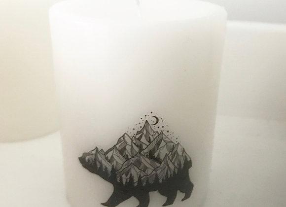 Pillar Candle - Mountain bear