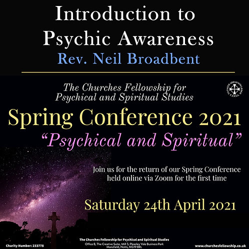 Introduction to Psychic Awareness - Rev. Neil Broadbent (DVD)