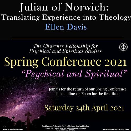Julian of Norwich: Translating Experience into Theology - Ellen Davis (DVD)