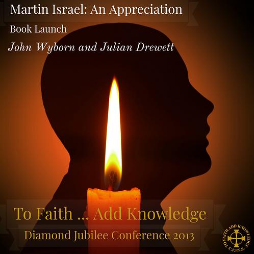 Book Launch - Martin Israel: An Appreciation