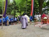 中川神社にて