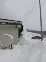 家の周りの雪