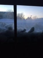 雪で覆われた家(中から)