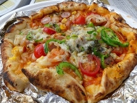 完成したピザ