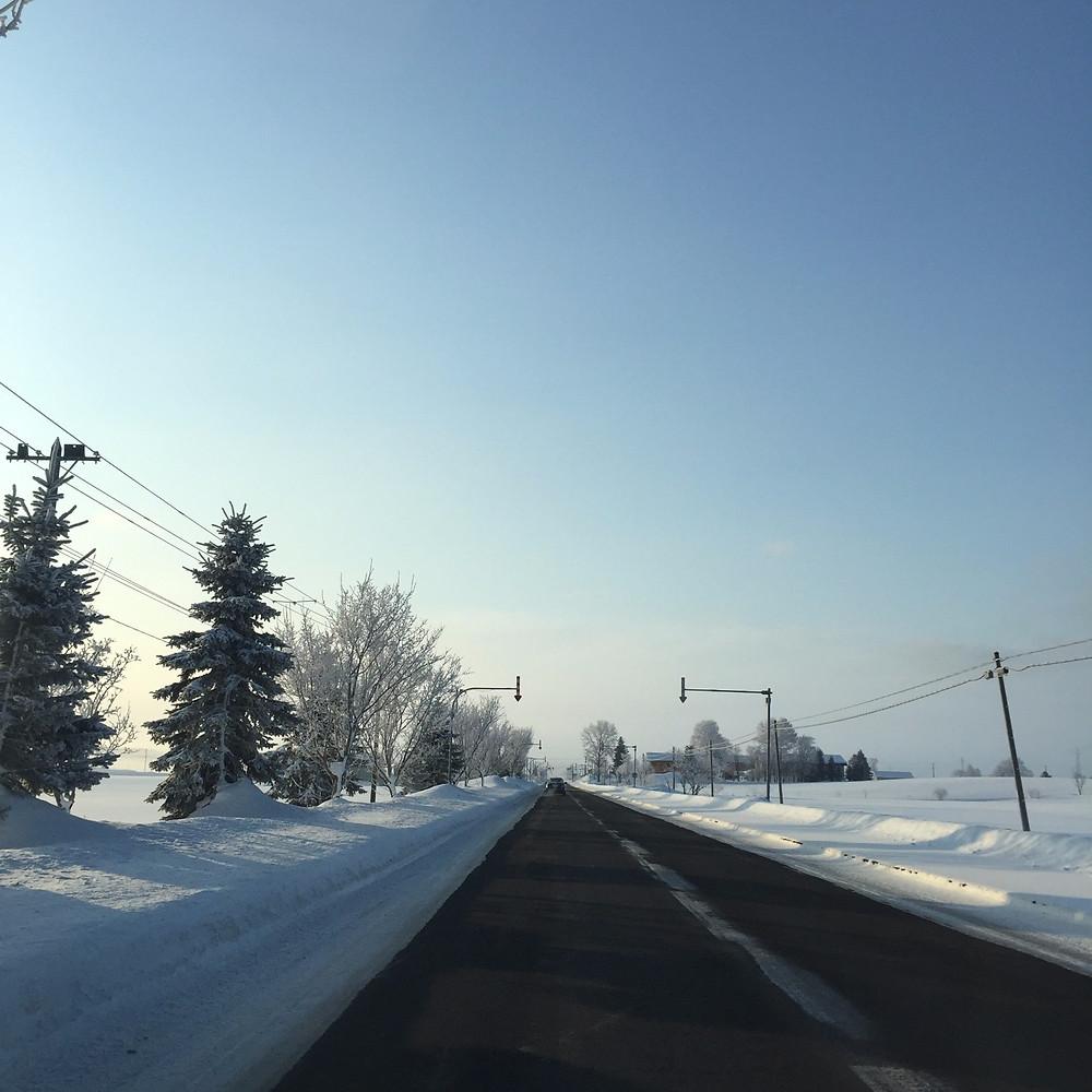 氷点下25度の朝