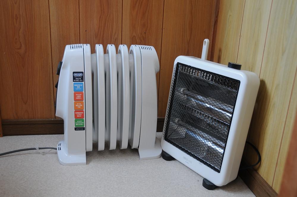 デロンギのオイルヒーターと電気ヒーター