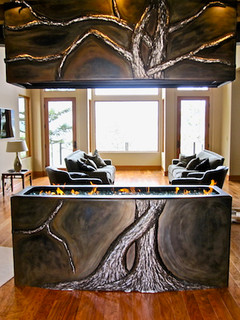 Woodland fireplace