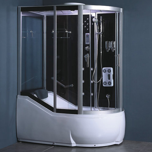 S-1630 Oblong Curved Bath & Shower Enclosure