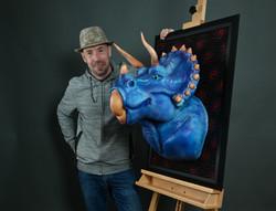 Le Tricératops version tableau