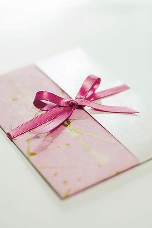 Envelope wth ribbon