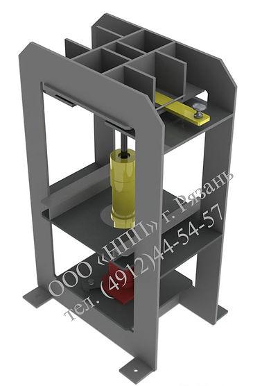 Пресс для выпрессовки и запрессовки резьбовой втулки в стойке сливного прибора