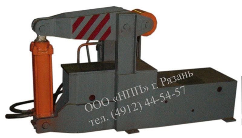 Пресс для правки хвостовика корпуса автосцепки