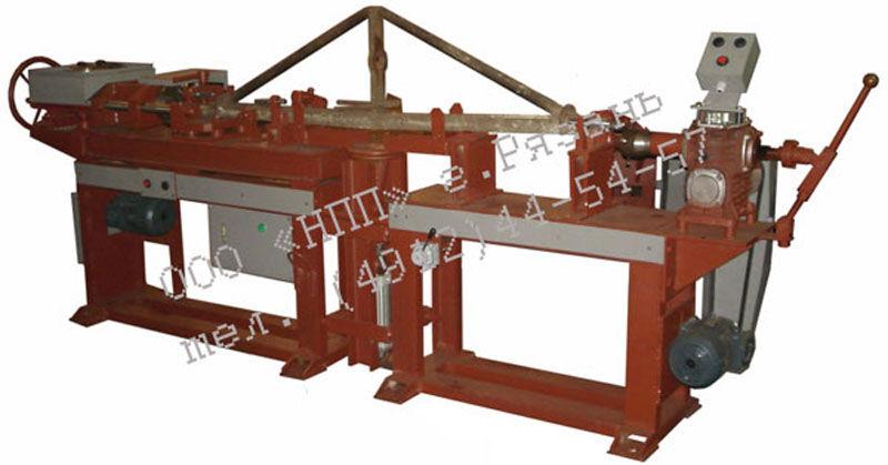 Установка для обточки и нарезки резьбы на наконечниках триангелей
