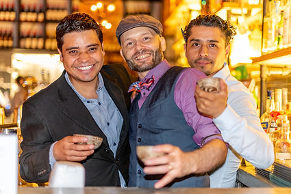 Alex, Francesco and Rigoberto at La Contenta