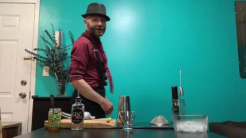 Bartender Francesco Dionese preparing a modern appletini