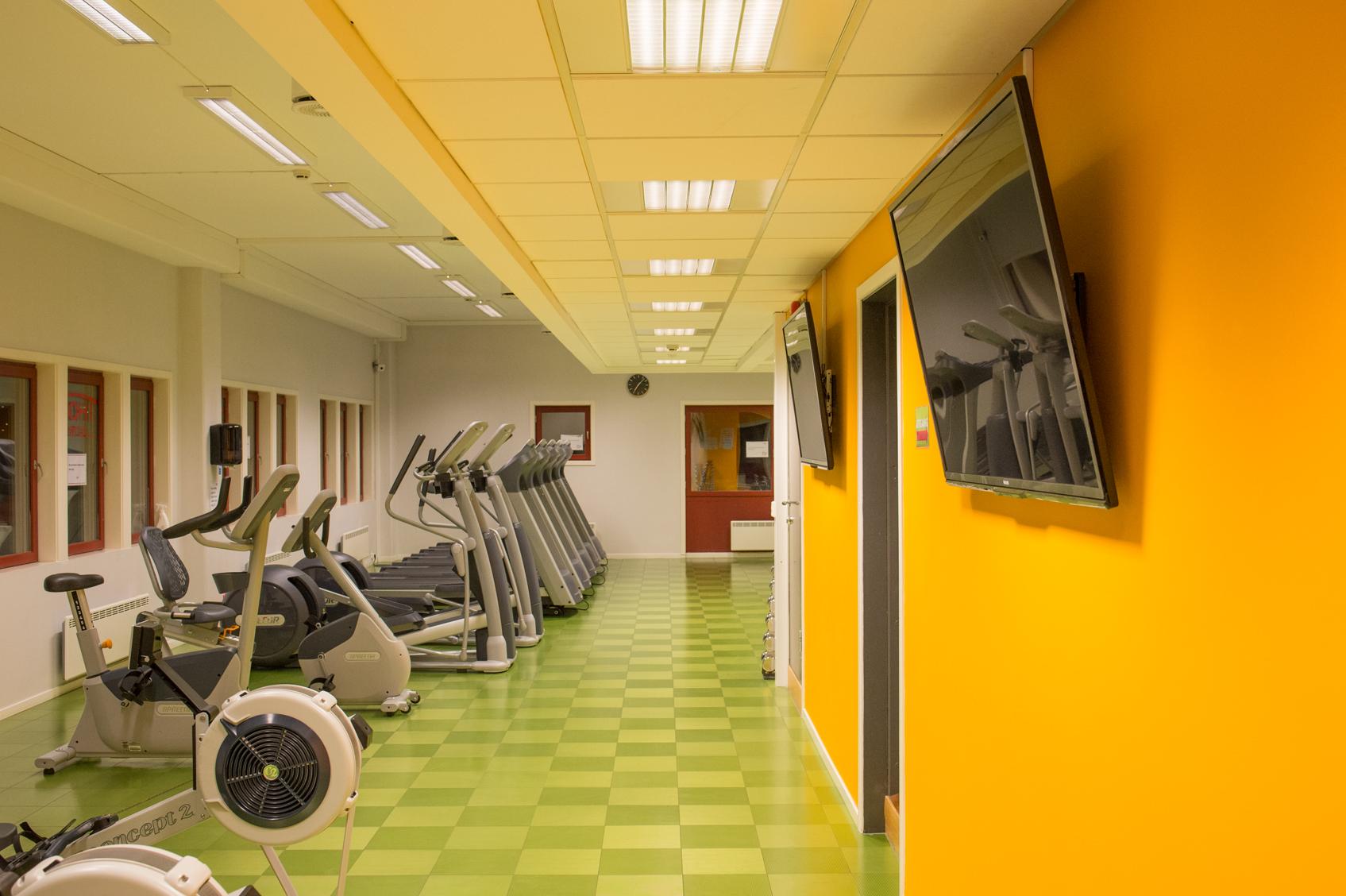 Bilde av treningsrommet