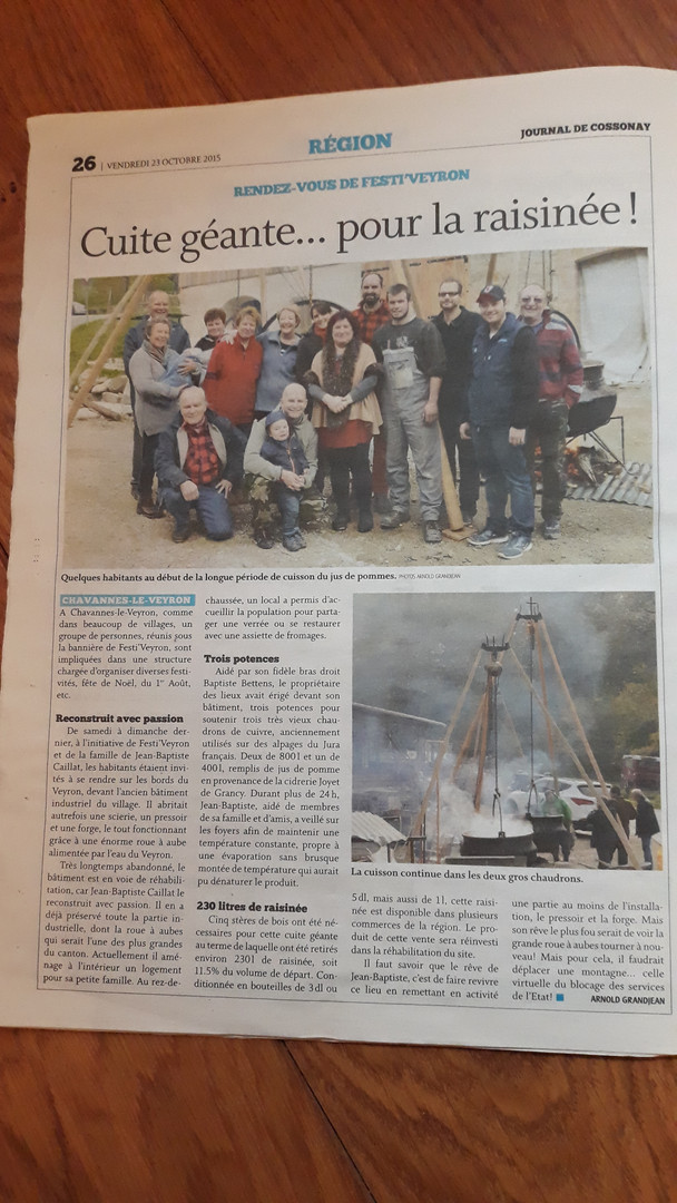 Journal de Cossonay - 23.10.2015