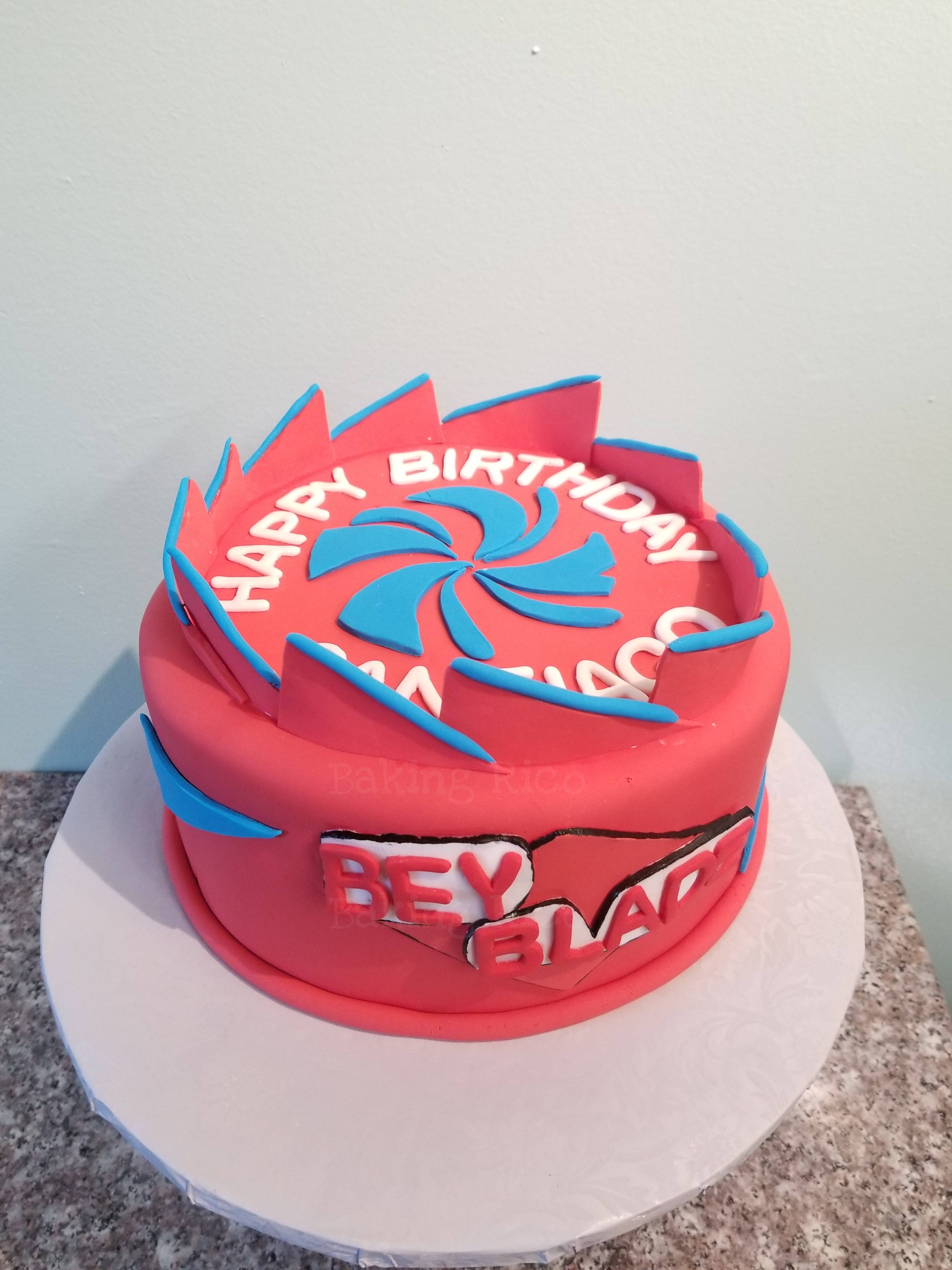 Bey Blade Birthday Cake