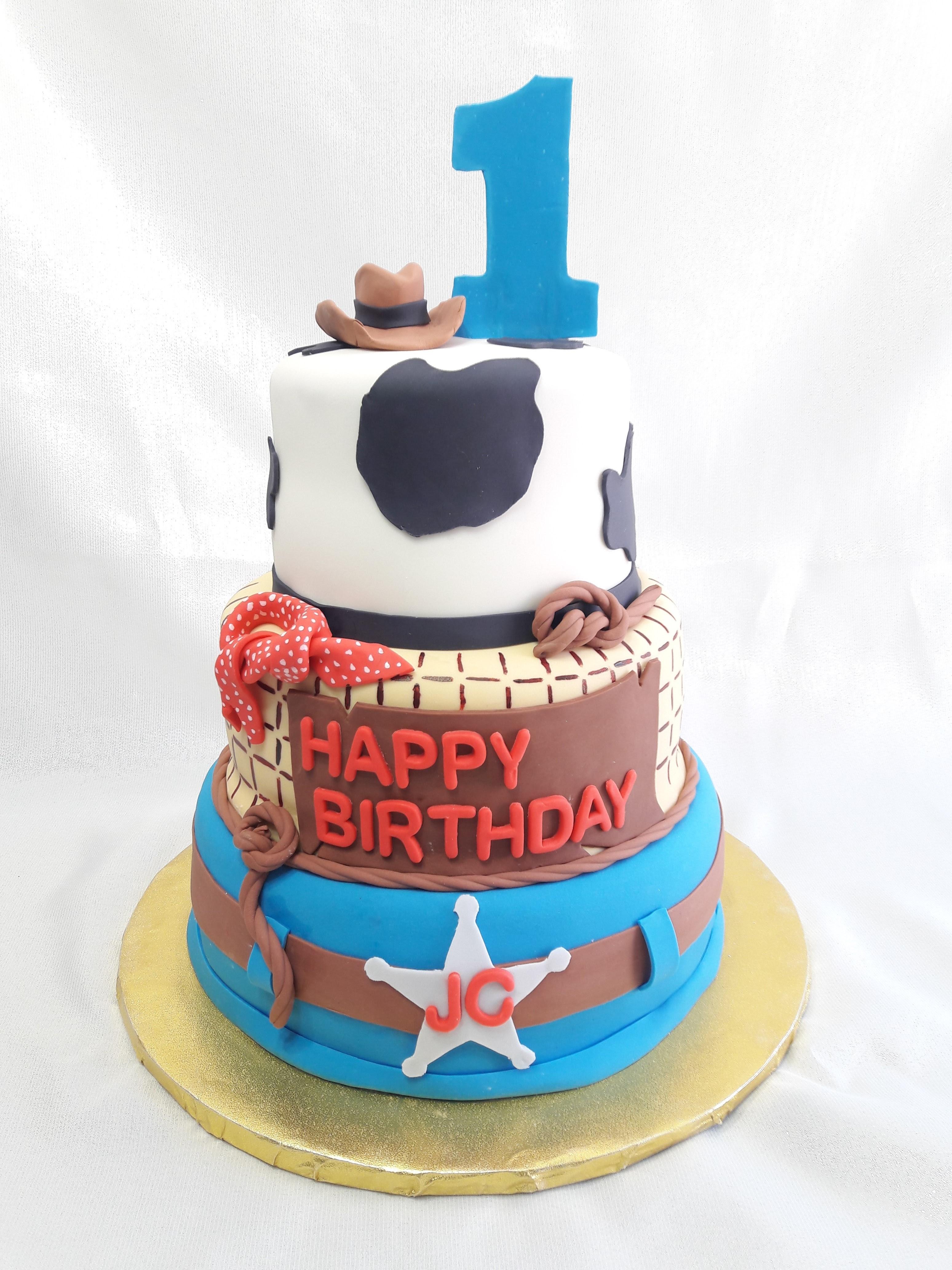 Toy Story theme birthday cake
