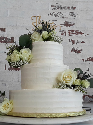 White glaze Wedding Cake