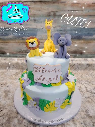 Little Zoo Birthday Cake
