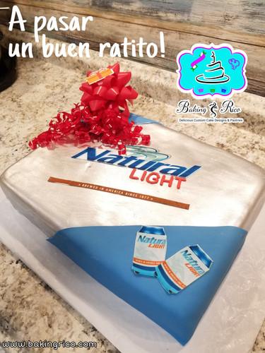 Natural Light Beer Cake