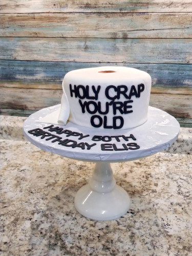 Toilet Paper Borthday Cake