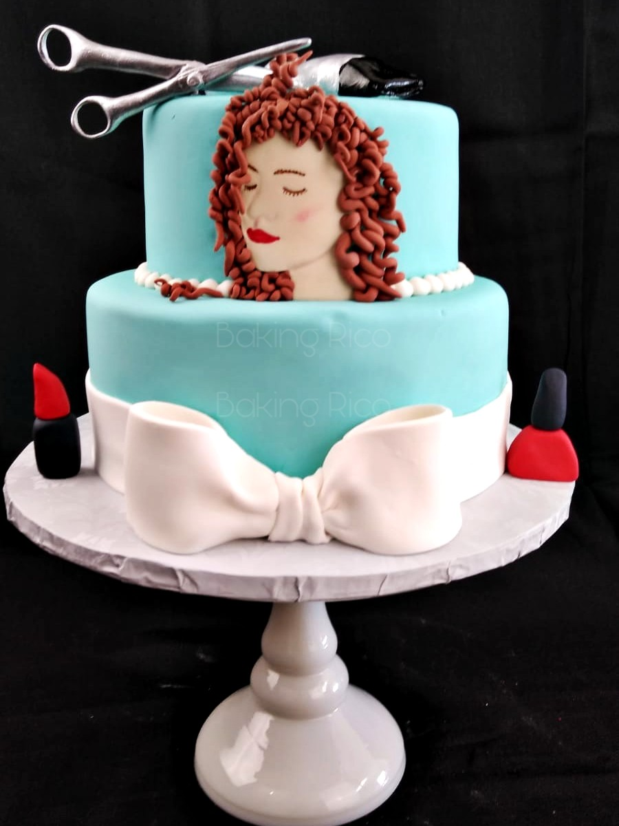 Beauty And Salon Birthday Cake
