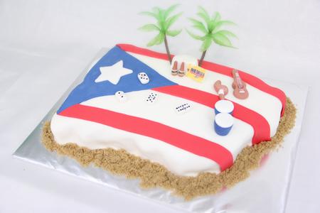 Puerto Rico Custom Cake