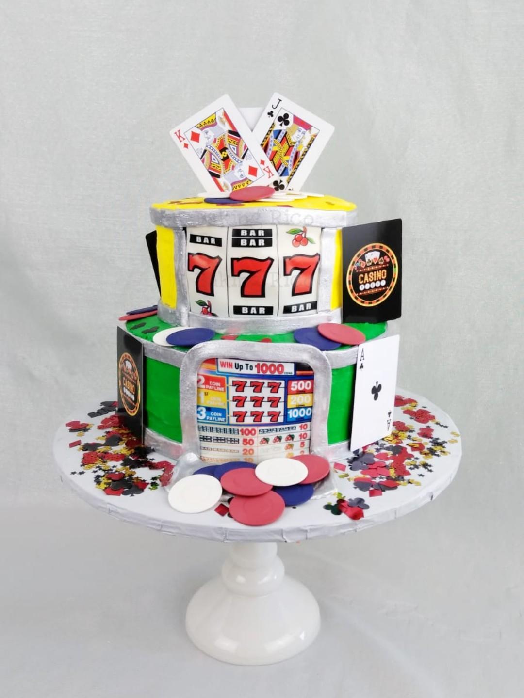Casino Custom Cake