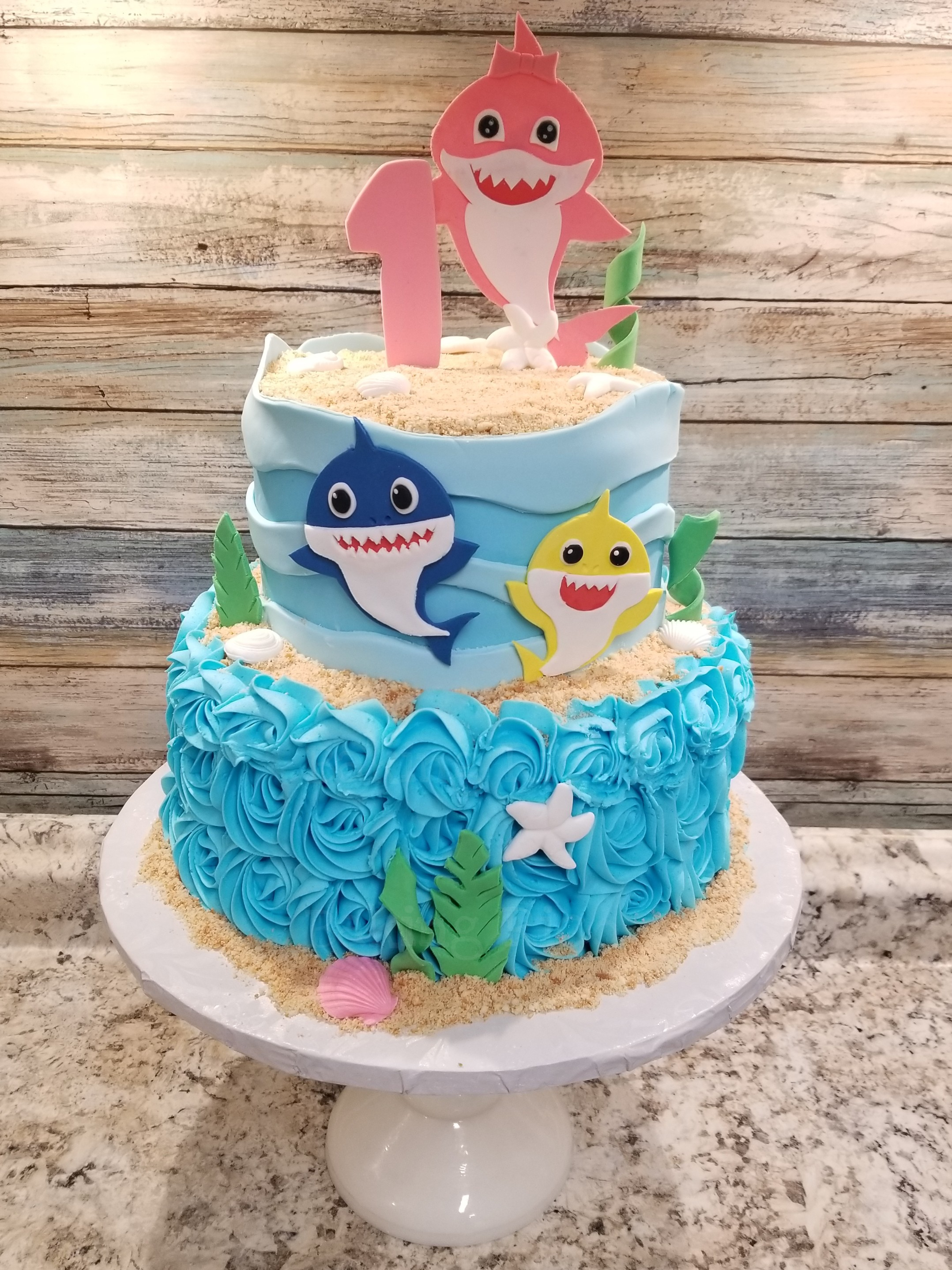 Baby Shark Custom Cake