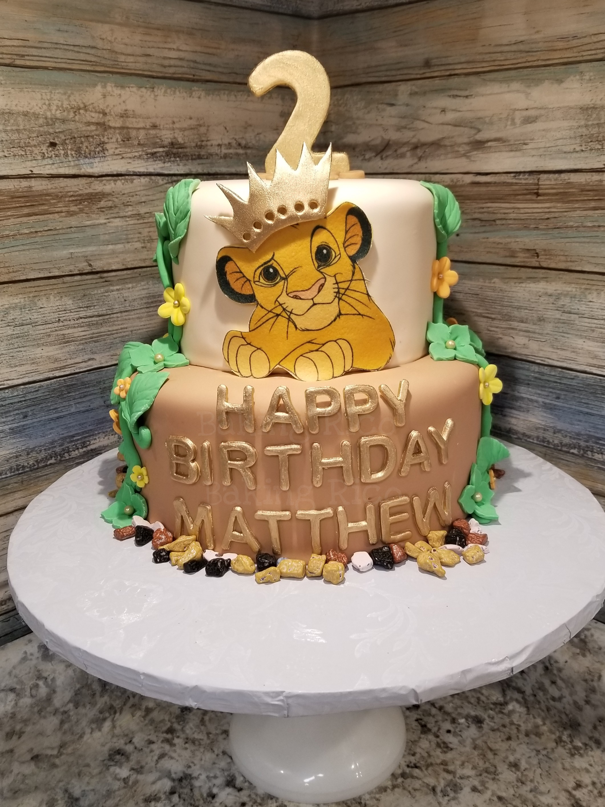 Lion King Theme Custom Cake