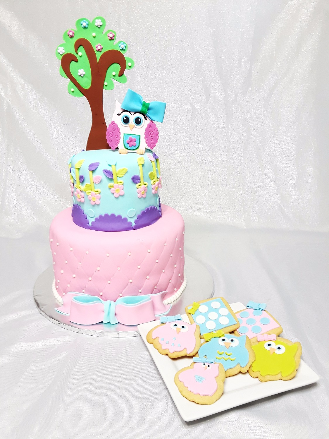 Little owl Cake and cookies