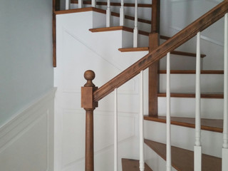 Freshly painted stairway