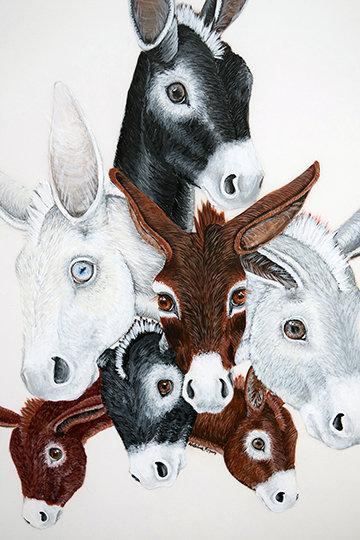 Burro Love- Acrylic Painting