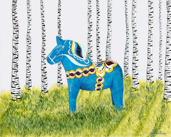 Swedish Dala horse in Daylight