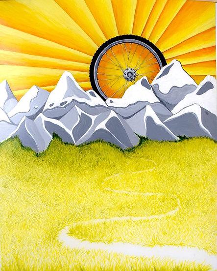 Rocky Mtn Biker's Sunset