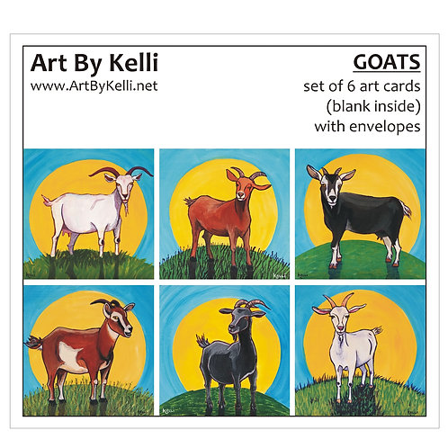 """Goats"" Art Cards Boxed Set"