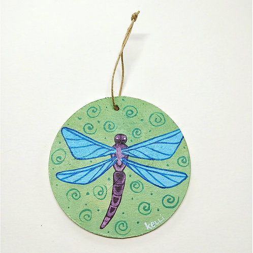Hand-painted Ornament: Dragonfly