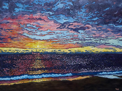 """Sunrise Over Lake Michigan 10.22.2016"""