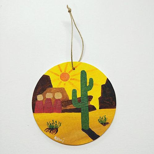 Hand-painted Ornament: Desert